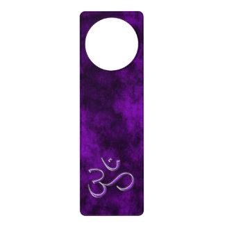 Purple Stone Om Door Hanger