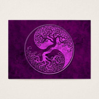Purple Stone Yin Yang Tree Business Card