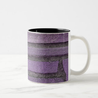purple stones Two-Tone coffee mug
