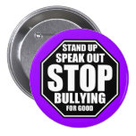 Purple Stop Bullying 3 Inch Round Button