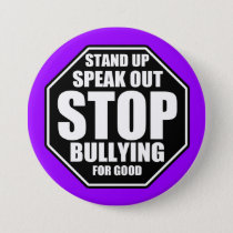 Purple Stop Bullying Pinback Button