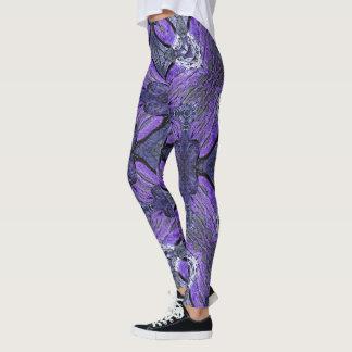 Purple Storm Geometric Leggings