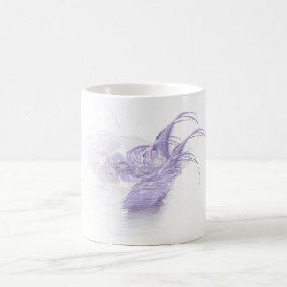 Purple streaming classic white coffee mug