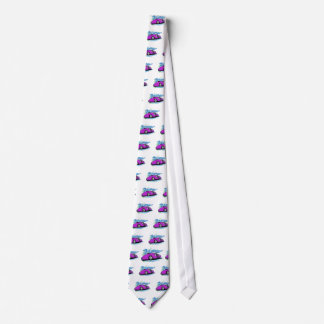 Purple Street Rod and Tribal Markings Neck Tie