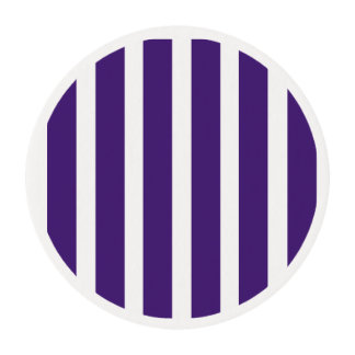 Purple stripe - cupcake toppers edible frosting rounds
