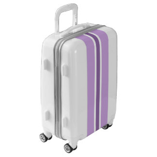 Purple Stripe Luggage Suitcase