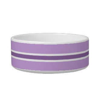 Purple Stripe Medium Pet Bowl