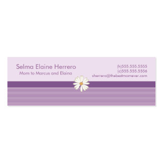 Purple Stripe Mommy Cards