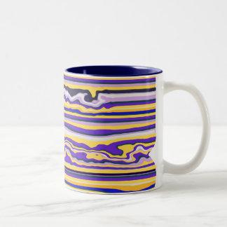 Purple Stripe Pattern Coffee Mug
