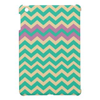 Purple Striped Border Zigzag Cover For The iPad Mini