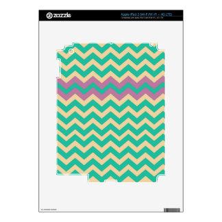 Purple Striped Border Zigzag Decal For iPad 3