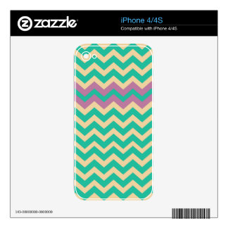 Purple Striped Border Zigzag iPhone 4 Skins