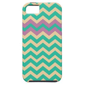 Purple Striped Border Zigzag iPhone SE/5/5s Case