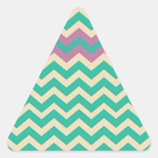 Purple Striped Border Zigzag Triangle Sticker