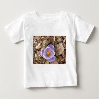 Purple Striped Crocus Flower Baby T-Shirt