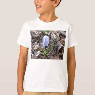 Purple striped Crocus flower bud T-Shirt