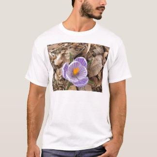 Purple Striped Crocus Flower T-Shirt