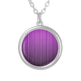 Purple Striped Custom Necklace