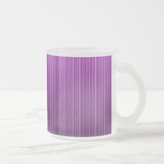 Purple Striped Frosted Glass Coffee Mug