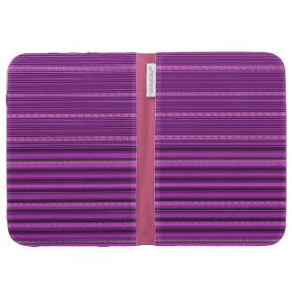 Purple striped kindle case