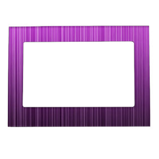 Purple Striped Magnetic Frame