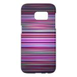 Purple striped pattern samsung galaxy s7 case