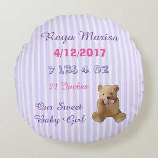 Purple Striped personalized Baby Girl  Pillow