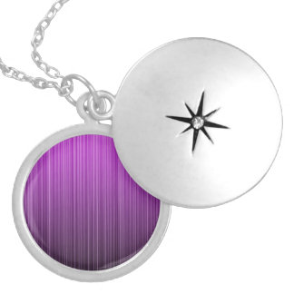 Purple Striped Silver Plated Necklace