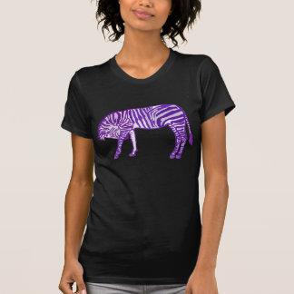 Purple Striped Zebra Takes A Bow Tee Shirt