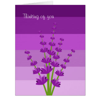 Purple Stripes Card