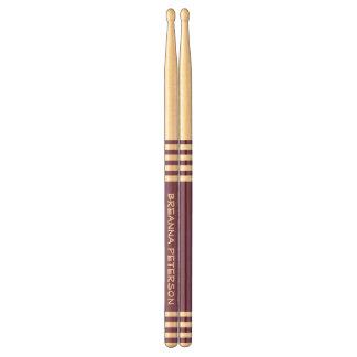 Purple Stripes Custom Name For Her V20 Drumsticks