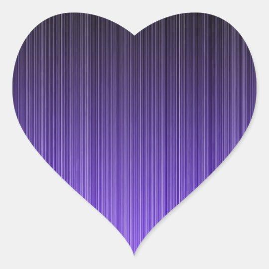 Purple Stripes Heart Sticker