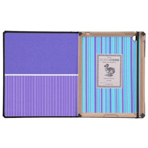 Purple Stripes iPad Covers