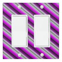 Purple Stripes Light Switch Cover