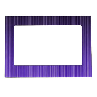 Purple Stripes Magnetic Photo Frame