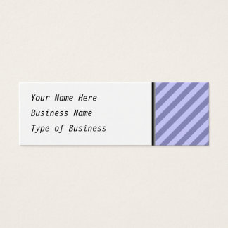 Purple stripes. mini business card