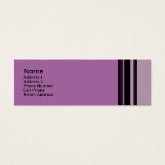 purple stripes mini business card