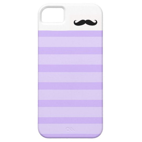 Purple Stripes Mustache Iphone5 Case