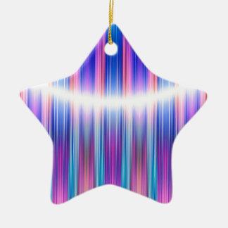 Purple stripes pattern ceramic ornament