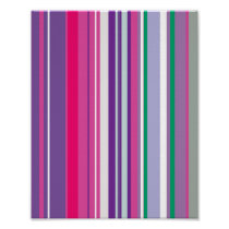Purple Stripes Pattern Poster