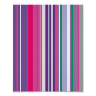 Purple Stripes Pattern Poster