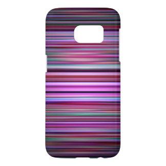 Purple stripes pattern samsung galaxy s7 case