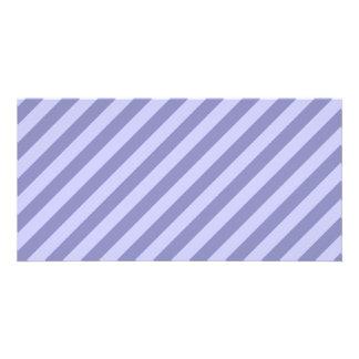 Purple stripes picture card