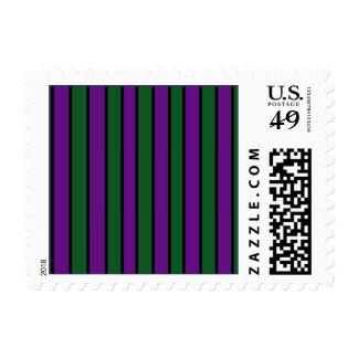 Purple Stripes Postage Stamps
