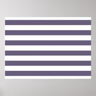 Purple Stripes Poster
