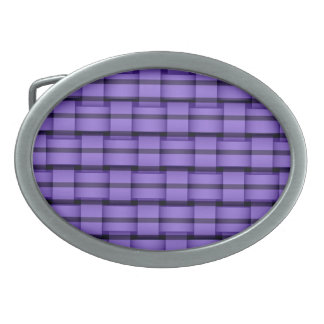 Purple stripes retro graphic design belt buckle