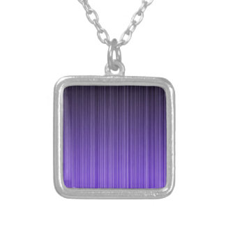 Purple Stripes Silver Plated Necklace