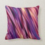 Purple stripes sunset colors pillows