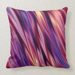 Purple stripes sunset colors throw pillows
