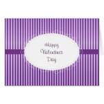 Purple Stripey Pattern Valentines Cards